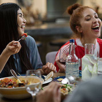 Dine with friends at voco