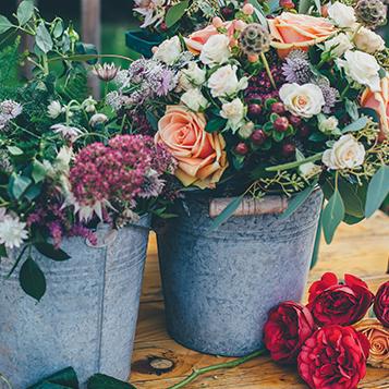 Flower display at voco Oxford Spires
