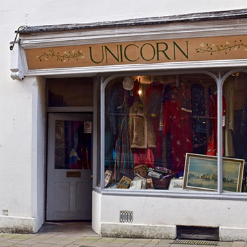 Visit the Unicorn vintage shop