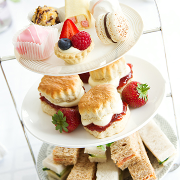 Enjoy afternoon tea at Oxford Spires